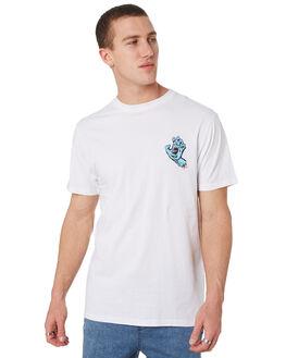 WHITE MENS CLOTHING SANTA CRUZ TEES - SC-MTD9371WHT