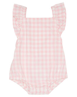 PINK GINGHAM KIDS BABY WALNUT CLOTHING - SP19JUNRMPPKGNG