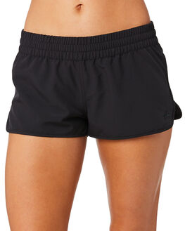 BLACK WOMENS CLOTHING RUSTY SHORTS - BSL0344BLK