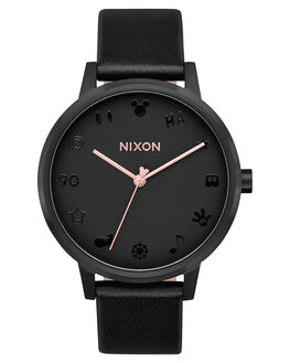 ALL BLACK ROSE GOLD WOMENS ACCESSORIES NIXON WATCHES - A1083096BLKRG