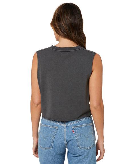 MERCH BLACK WOMENS CLOTHING THRILLS SINGLETS - WTH21-155BMMBLK