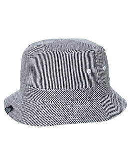HICKORY STRIPE WHITE MENS ACCESSORIES DICKIES HEADWEAR - K4182013HSWH