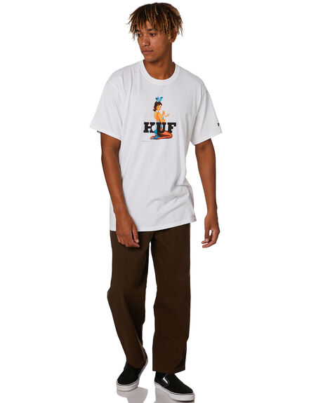 WHITE MENS CLOTHING HUF TEES - TS01469WHITE