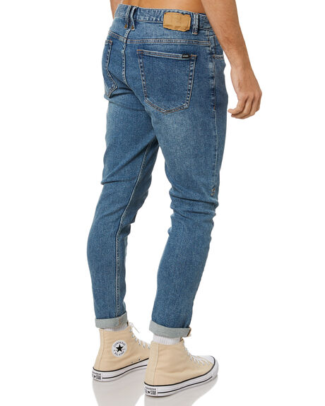 RINSED BLUES MENS CLOTHING THRILLS JEANS - TDP-418RBRBLU