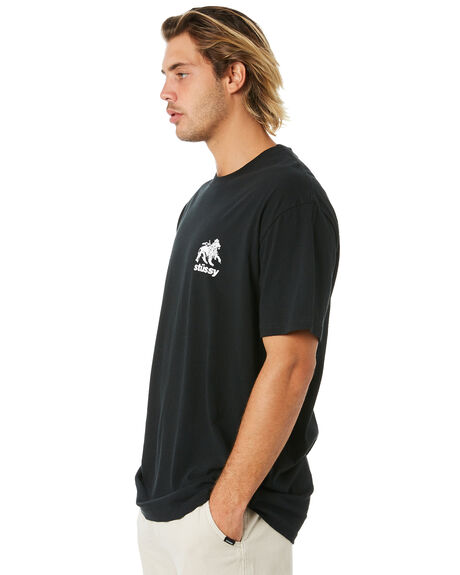 BLACK MENS CLOTHING STUSSY TEES - ST006010BLK