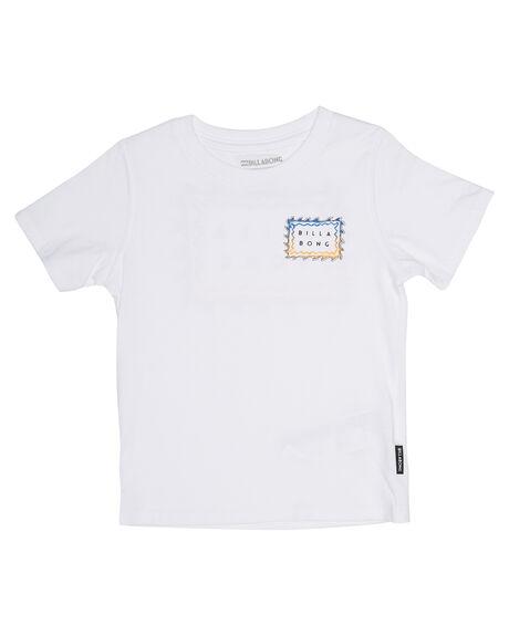 WHITE KIDS TODDLER BOYS BILLABONG TEES - 7585001WHT