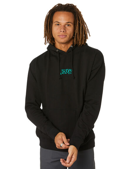 BLACK MENS CLOTHING POLER HOODIES + SWEATS - 212APM2605-BLK