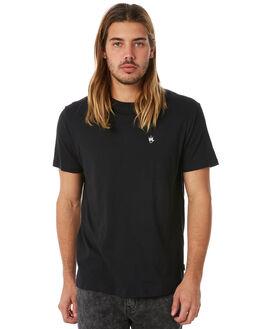 BLACK MENS CLOTHING AFENDS TEES - M182003BLK