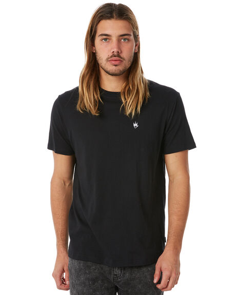 BLACK MENS CLOTHING AFENDS TEES - M182003BLK