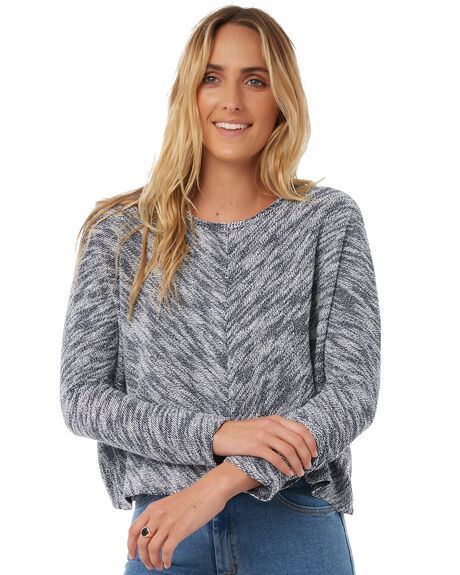 NAVY SPECKLE OUTLET WOMENS THE HIDDEN WAY KNITS + CARDIGANS - H8173146NAVS