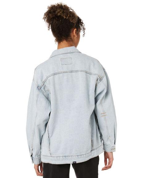 LIGHT BLUE FADE WOMENS CLOTHING THRILLS JACKETS - WTDP-227ELFLTBLU