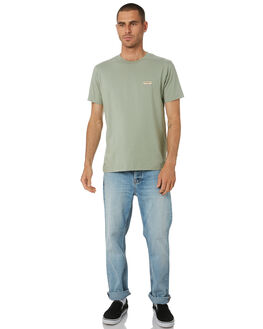 PALE GREEN MENS CLOTHING NUDIE JEANS CO TEES - 131613G41