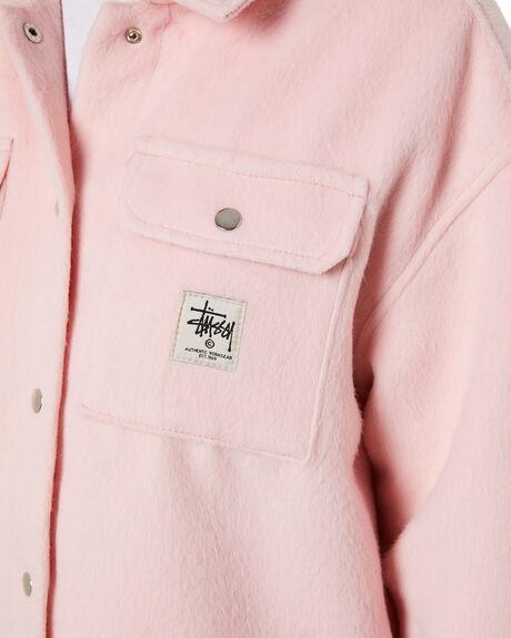 BLUSH WOMENS CLOTHING STUSSY JACKETS - ST115704BLUSH