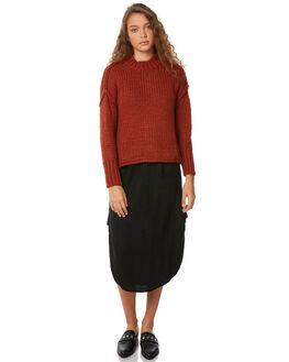 BLACK WOMENS CLOTHING RUE STIIC SKIRTS - SW18-45BKBLK
