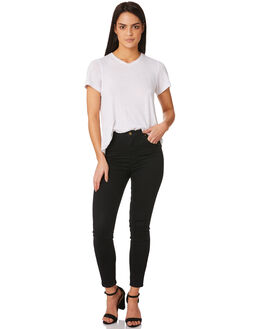 GALAXY BLACK WOMENS CLOTHING ROLLAS JEANS - 11585-866