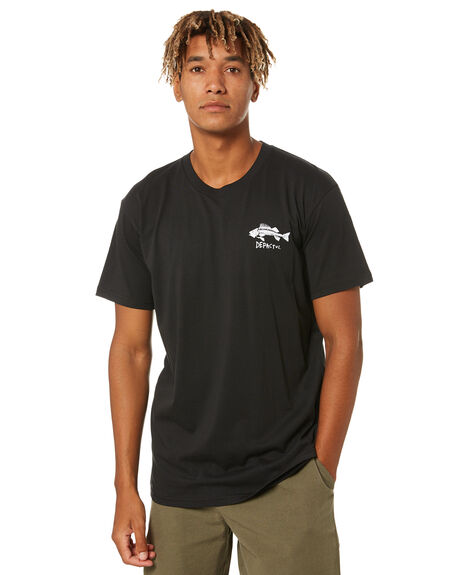 BLACK MENS CLOTHING DEPACTUS TEES - D5171002BLACK