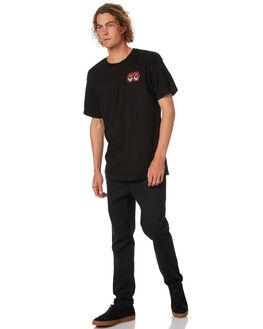 BLACK MENS CLOTHING KROOKED TEES - EYESTBLK