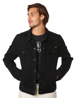 BLACK MENS CLOTHING VOLCOM JACKETS - A2111900BLK