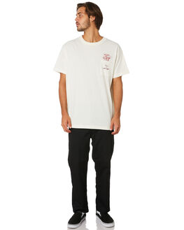 ANTIQUE WHITE MENS CLOTHING RVCA TEES - R193046ANWHT