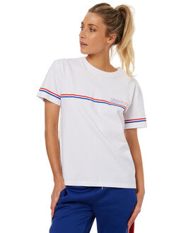 WHITE WOMENS CLOTHING RUSTY TEES - TTL0922WHT
