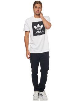 WHITE BLACK MENS CLOTHING ADIDAS ORIGINALS TEES - CW2336WHT