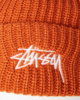 RUST MENS ACCESSORIES STUSSY HEADWEAR - ST796004RUST