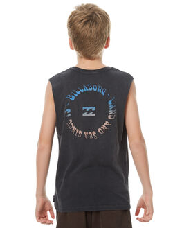 BLACK KIDS BOYS BILLABONG SINGLETS - 8571507BLK