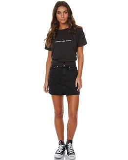 BLACK DUST WOMENS CLOTHING ZIGGY SKIRTS - ZW-1304BLKD
