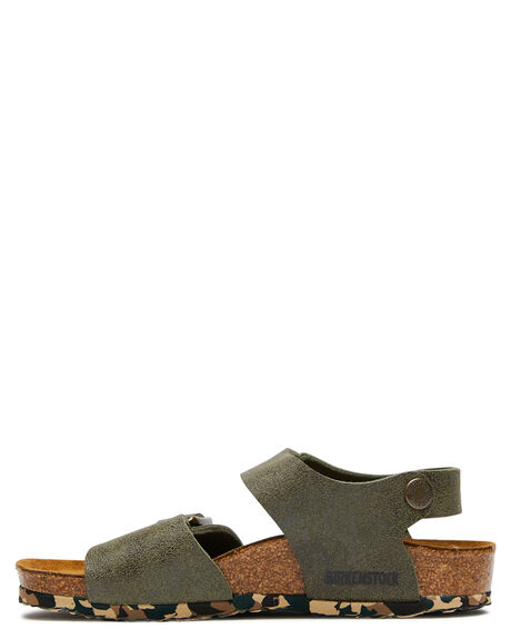 SANDWASHED GREEN KIDS BOYS BIRKENSTOCK THONGS - 1008279SWGR