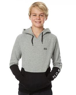 GREY HEATHER KIDS BOYS BILLABONG JUMPERS - 8575631GRY
