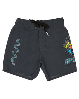 BLACK KIDS BOYS RIP CURL BOARDSHORTS - OBOSN10090