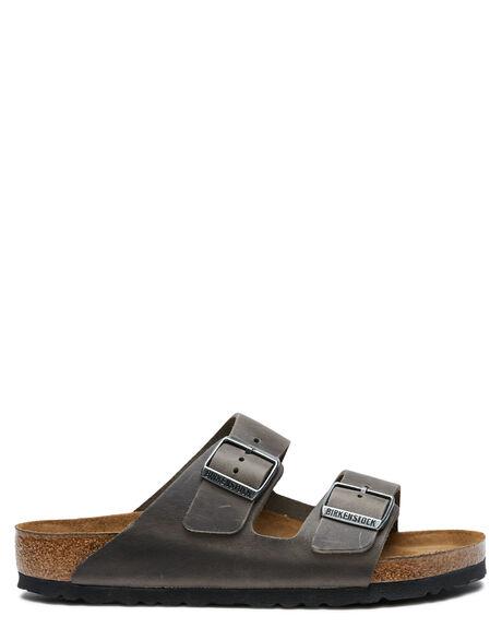OILED IRON WOMENS FOOTWEAR BIRKENSTOCK SLIDES - 552801OIRN