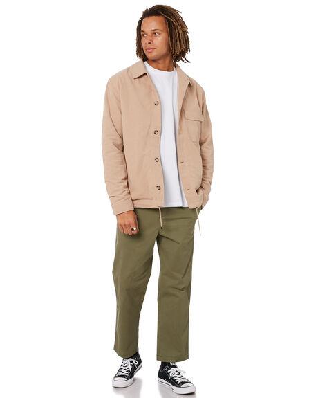 LIGHT TAN MENS CLOTHING MISFIT JACKETS - MT015504LTTN