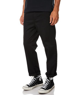 BLACK MENS CLOTHING GLOBE PANTS - GB01736011BLK