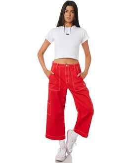 RISKY RED WOMENS CLOTHING STUSSY PANTS - ST195603RED