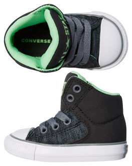 ALMOST BLACK KIDS TODDLER BOYS CONVERSE FOOTWEAR - 760766BLK
