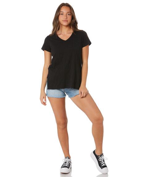 BLACK WOMENS CLOTHING BETTY BASICS TEES - BB297BLK