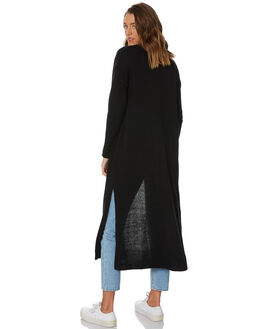 BLACK WOMENS CLOTHING SILENT THEORY KNITS + CARDIGANS - 8330015BLK