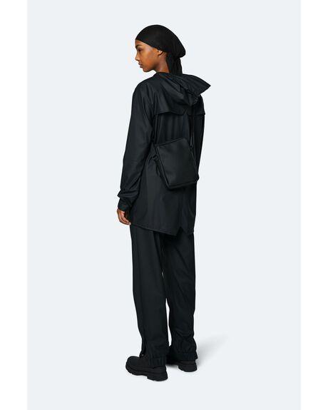 BLACK MENS ACCESSORIES RAINS BAGS + BACKPACKS - 4JETB-BK-OS