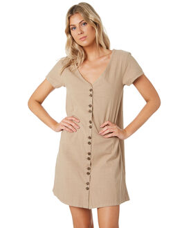 TAUPE WOMENS CLOTHING SWELL DRESSES - S8201441TAUPE