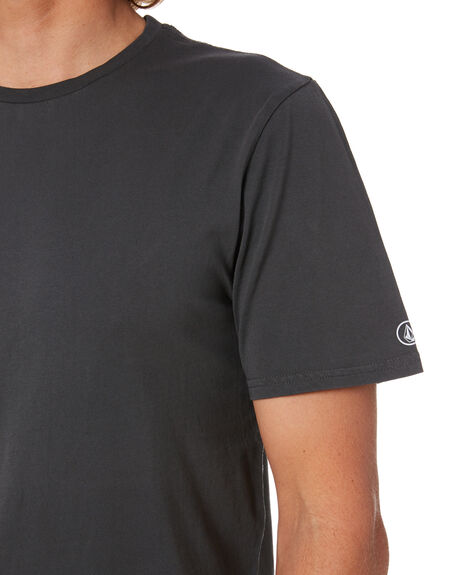 BLACK MENS CLOTHING VOLCOM TEES - A4302001BLK