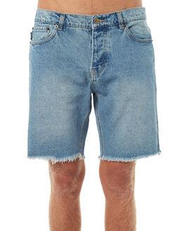 WASHED INDIGO MENS CLOTHING AFENDS SHORTS - 09-05-021WSIND