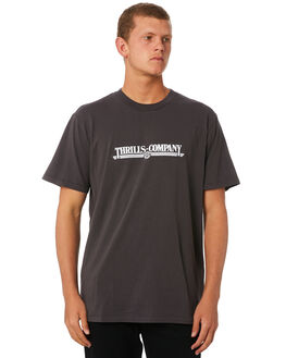 MERCH BLACK MENS CLOTHING THRILLS TEES - TW9-118MBMCBLK