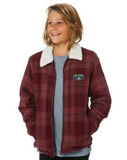 MAROON KIDS BOYS RIP CURL JUMPERS + JACKETS - KJKED14370
