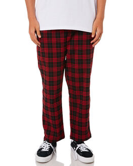 RED BLACK MENS CLOTHING STUSSY PANTS - ST095608REDBLK
