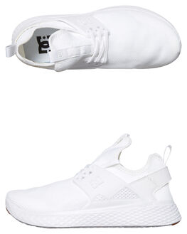 WHITE MENS FOOTWEAR DC SHOES SNEAKERS - ADYS700125WHT