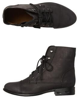 BLACK BUFF WOMENS FOOTWEAR ROC BOOTS AUSTRALIA BOOTS - TJRWW1638BLKB