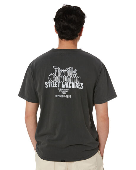 MERCH BLACK MENS CLOTHING THRILLS TEES - TS20-124BMMBK