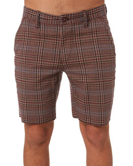 ALUMINUM PLUM MENS CLOTHING BRIXTON SHORTS - 04019ALPLU