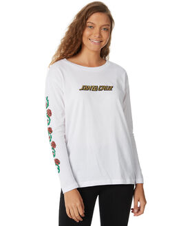 WHITE WOMENS CLOTHING SANTA CRUZ TEES - SC-WLB8600WHT